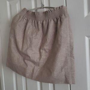 J. Crew sparkly linen gathered waistband skirt 6